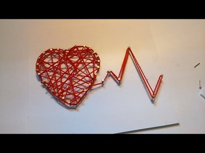 How To Made Love Heart String Art - Craft For Kid