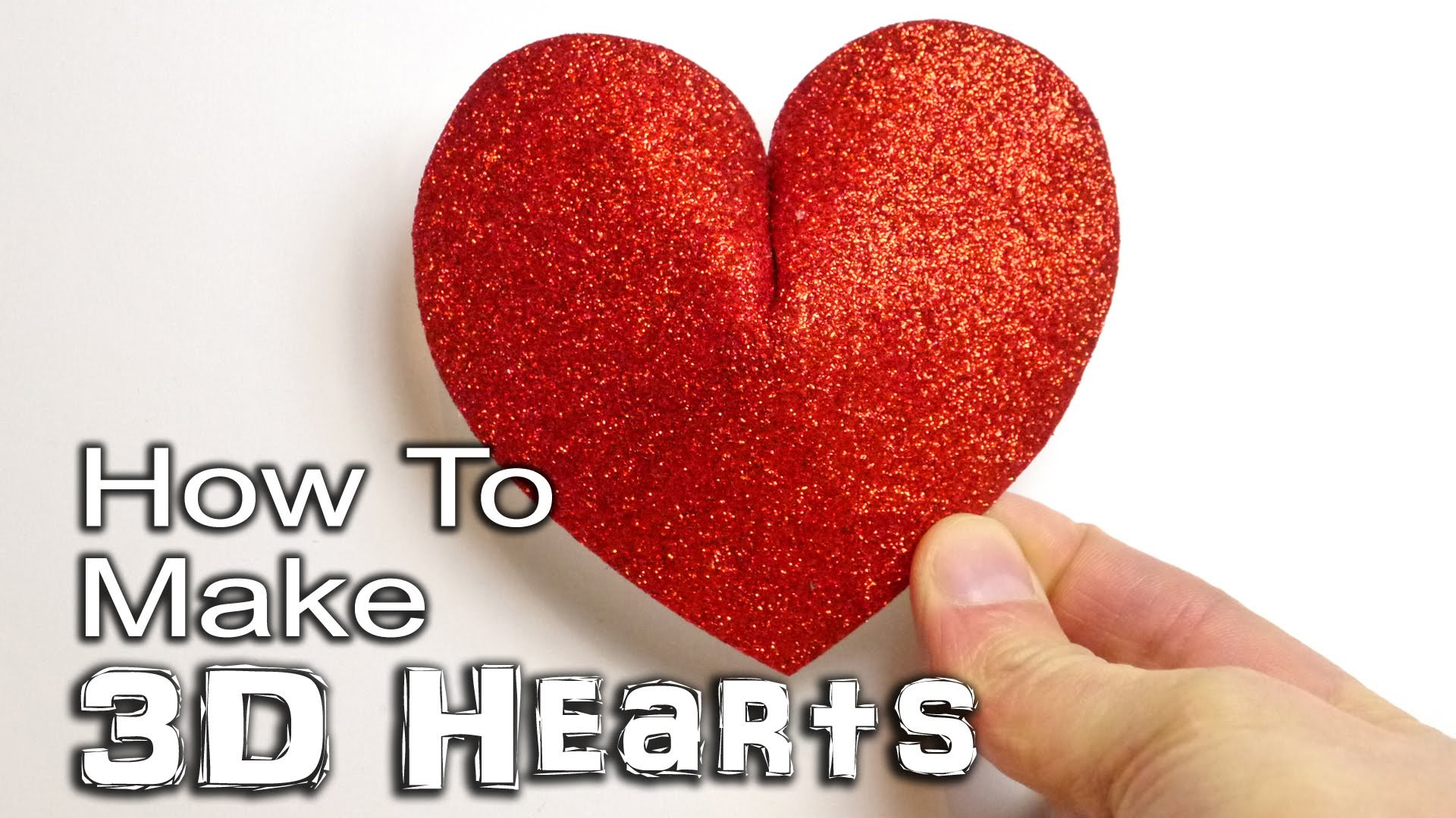 How to Make a 3D Heart - Paper, Card and Foam