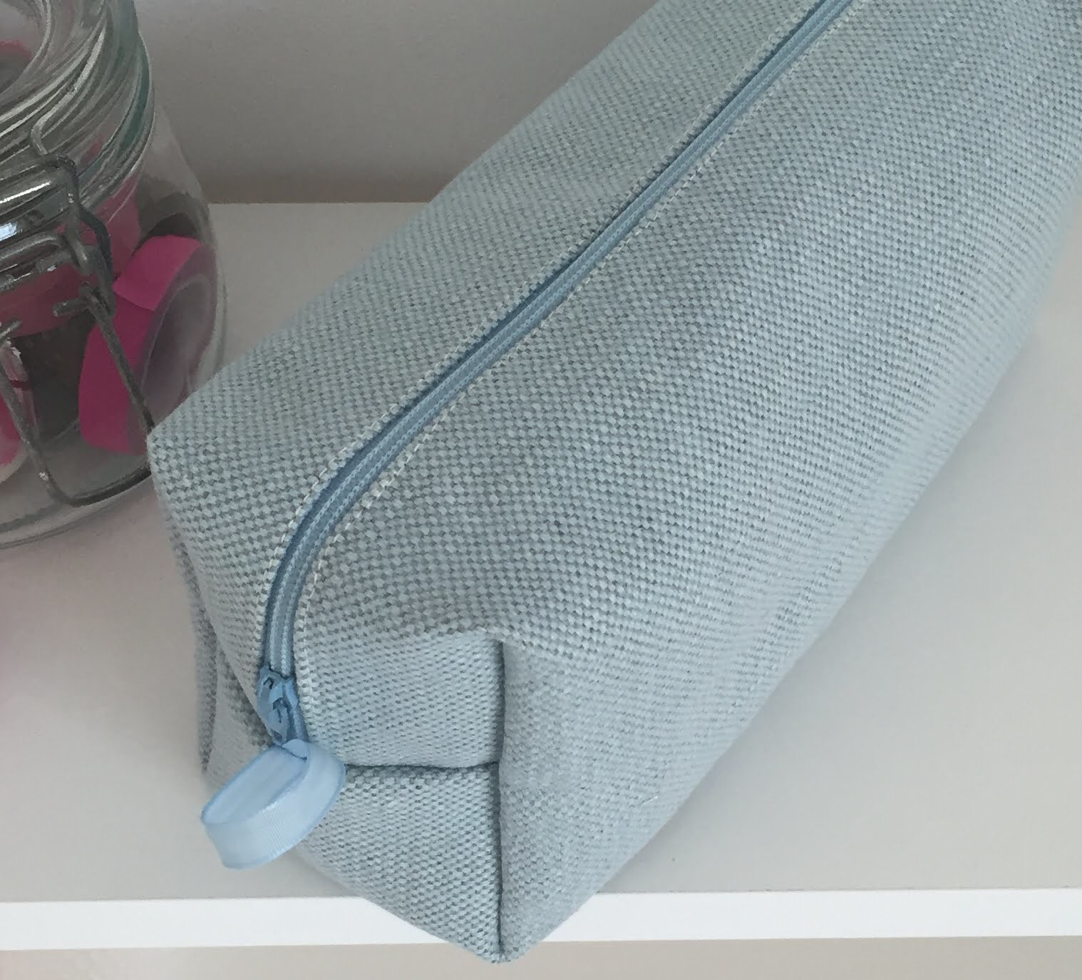 How To Make A Box Corner Pencil Case or Makeup Bag