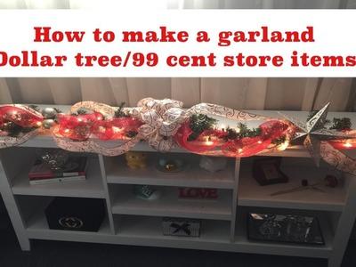 How to make a Christmas garland
