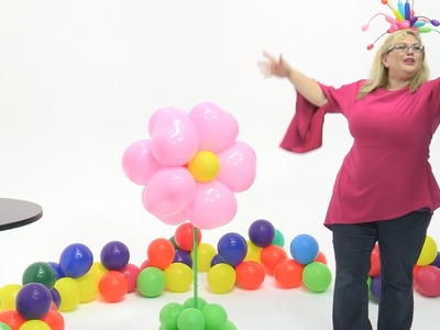 How To Make a Cute Balloon Flower (Oversized)