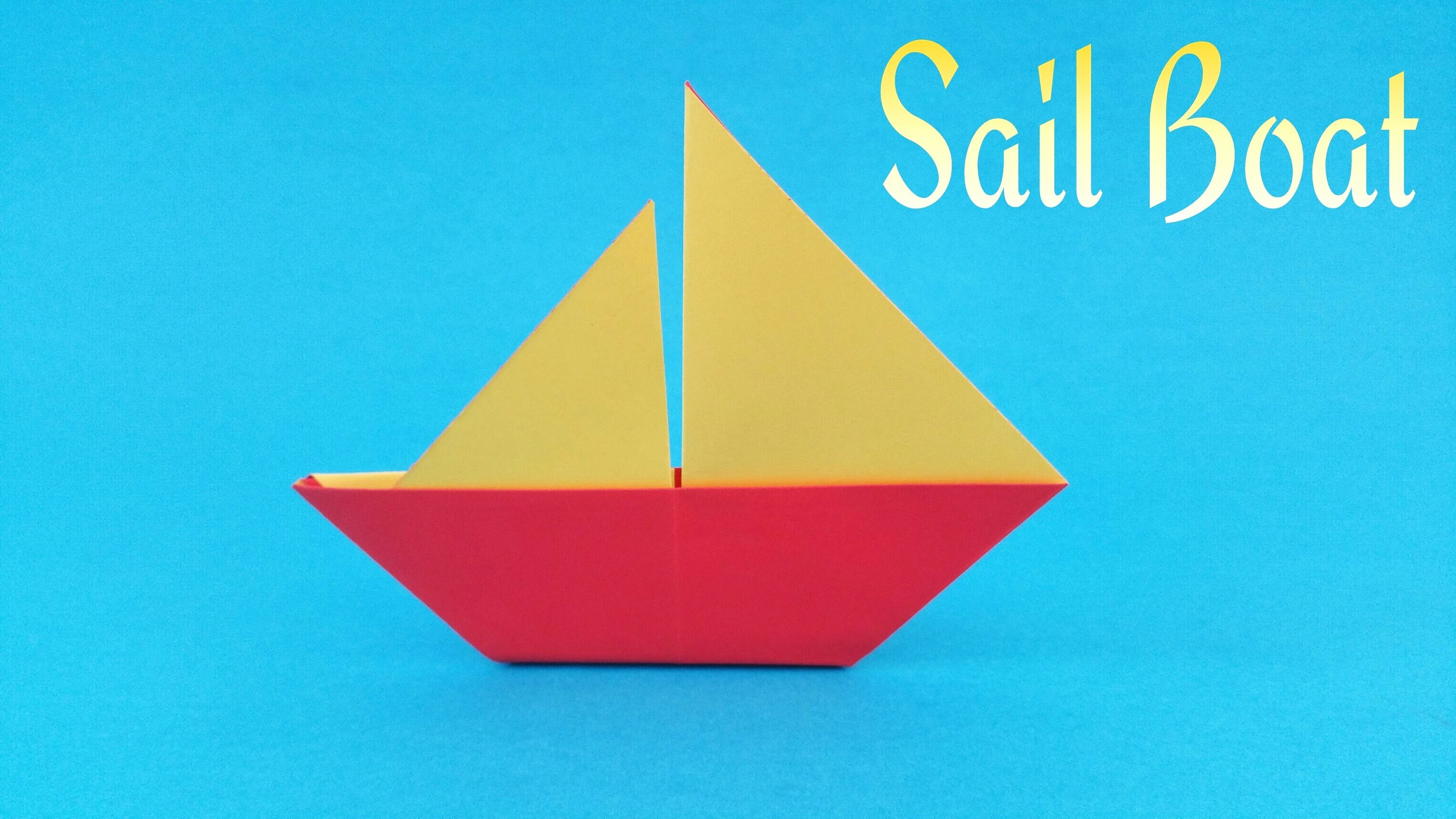 "How to make a easy paper ""⛵ Sail Boat"" - Origami Tutorial"