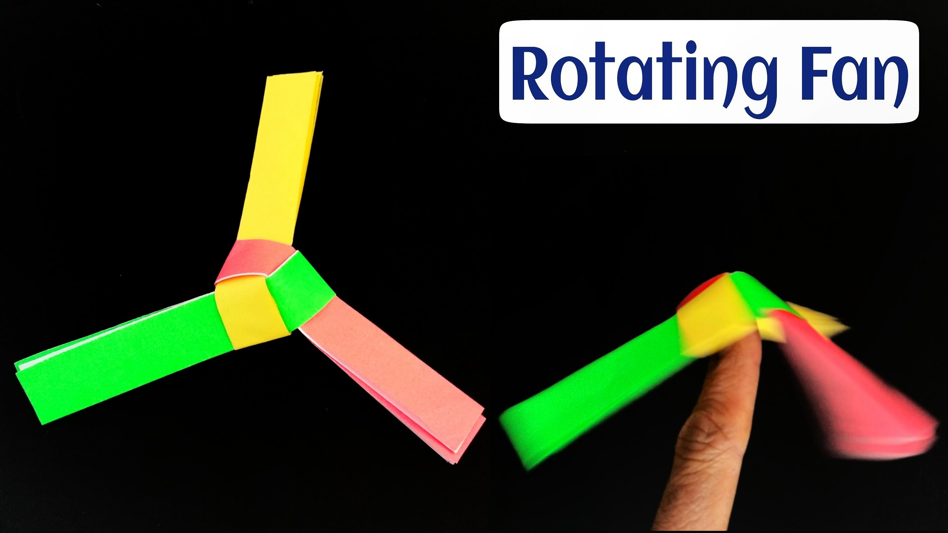 """How to make a easy """"Rotating Paper Fan.Spinner """" - Modular Origami Tutorial"""