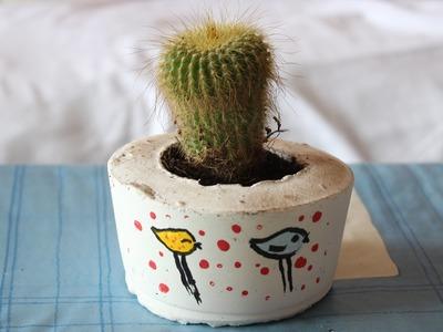 How To Make a Flower Pot - DIY