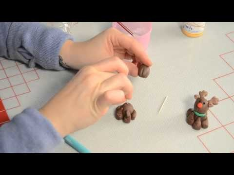 How to make a Fondant Reindeer Cupcake and Christmas Cupcake Decorating   Christmas Tree, Candy Cane