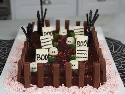 How to Make a Ghoulish Graveyard Cake