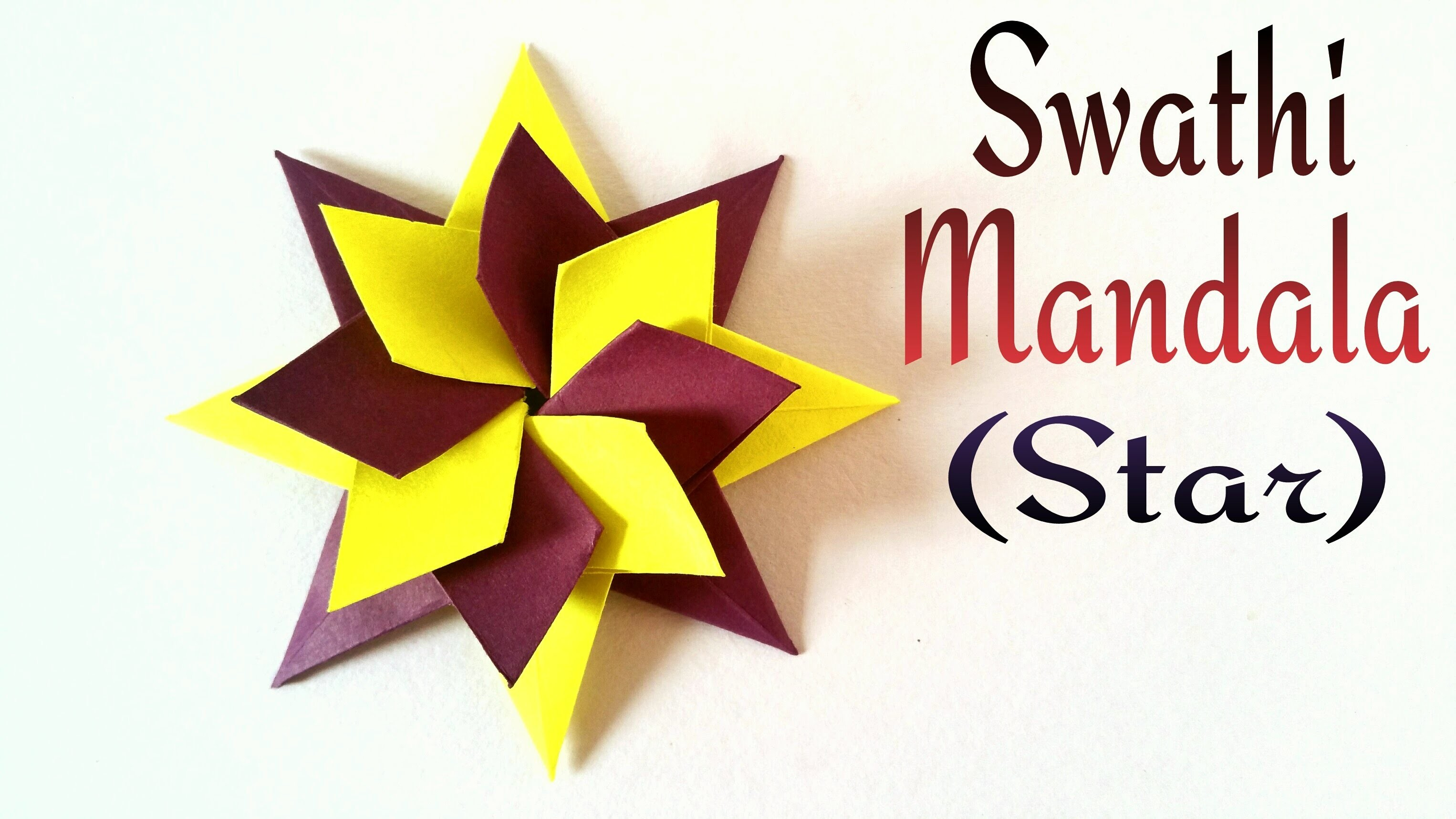 How to make a Modular star (Swathi Mandala ) - Decorative Origami tutorial
