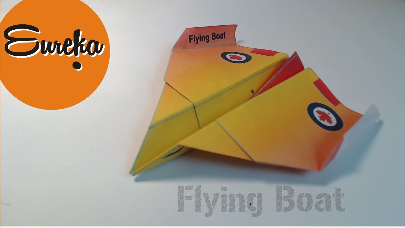 How to make a paper airplane │Flying Boat