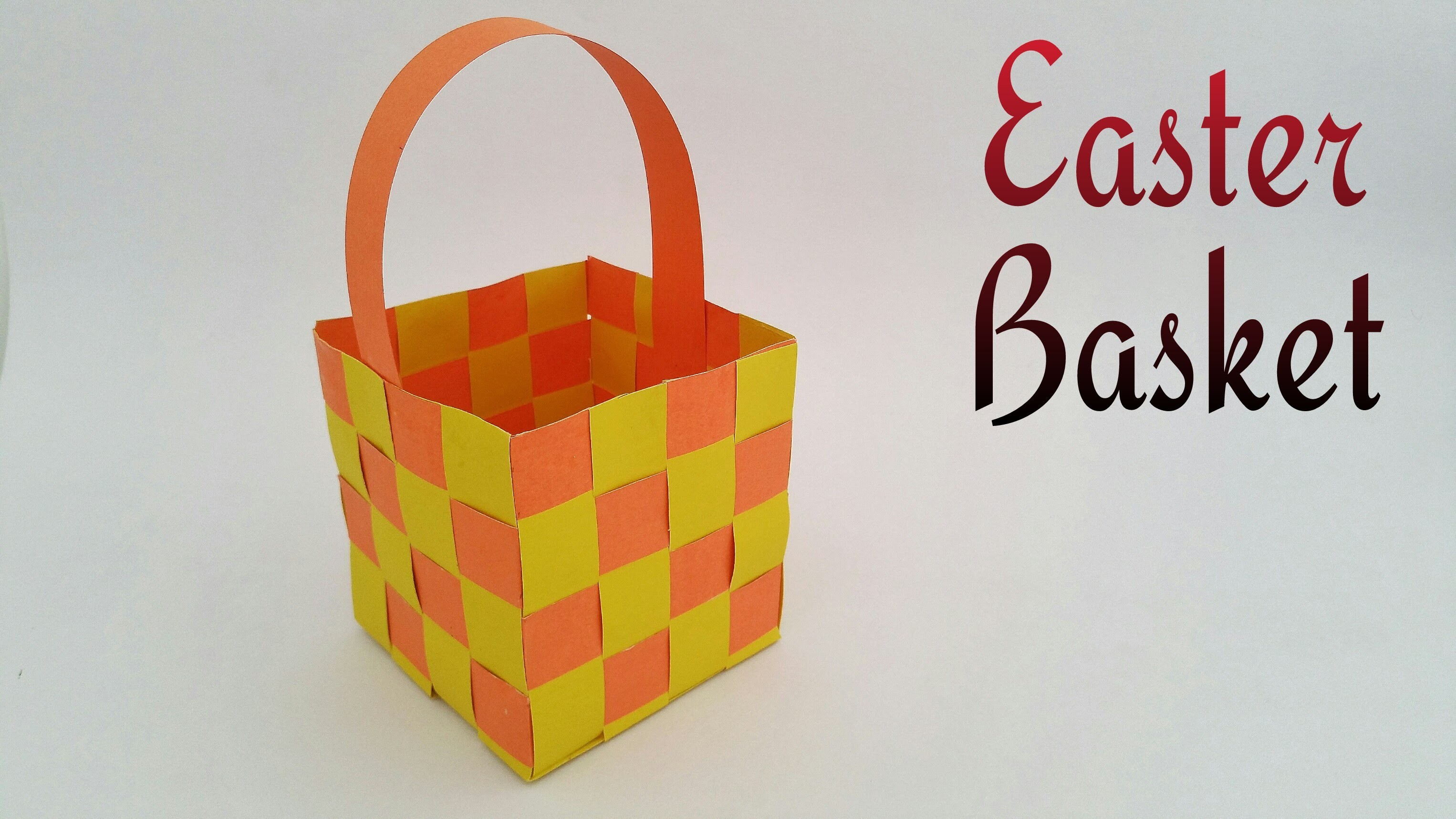 "How to make a paper ""Easter Basket"" - Paper Crafts tutorial"