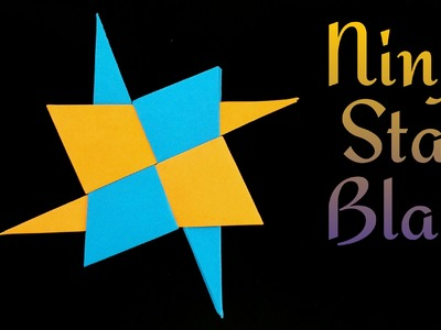 "How to make a paper ""Ninja Star Blade Shuriken "" - Modular origami tutorial"