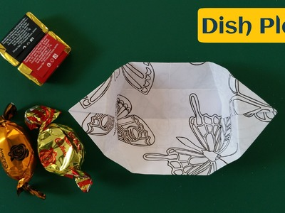 """How to make a Paper """"Plate dish"""" - Useful Origami Tutorial"""