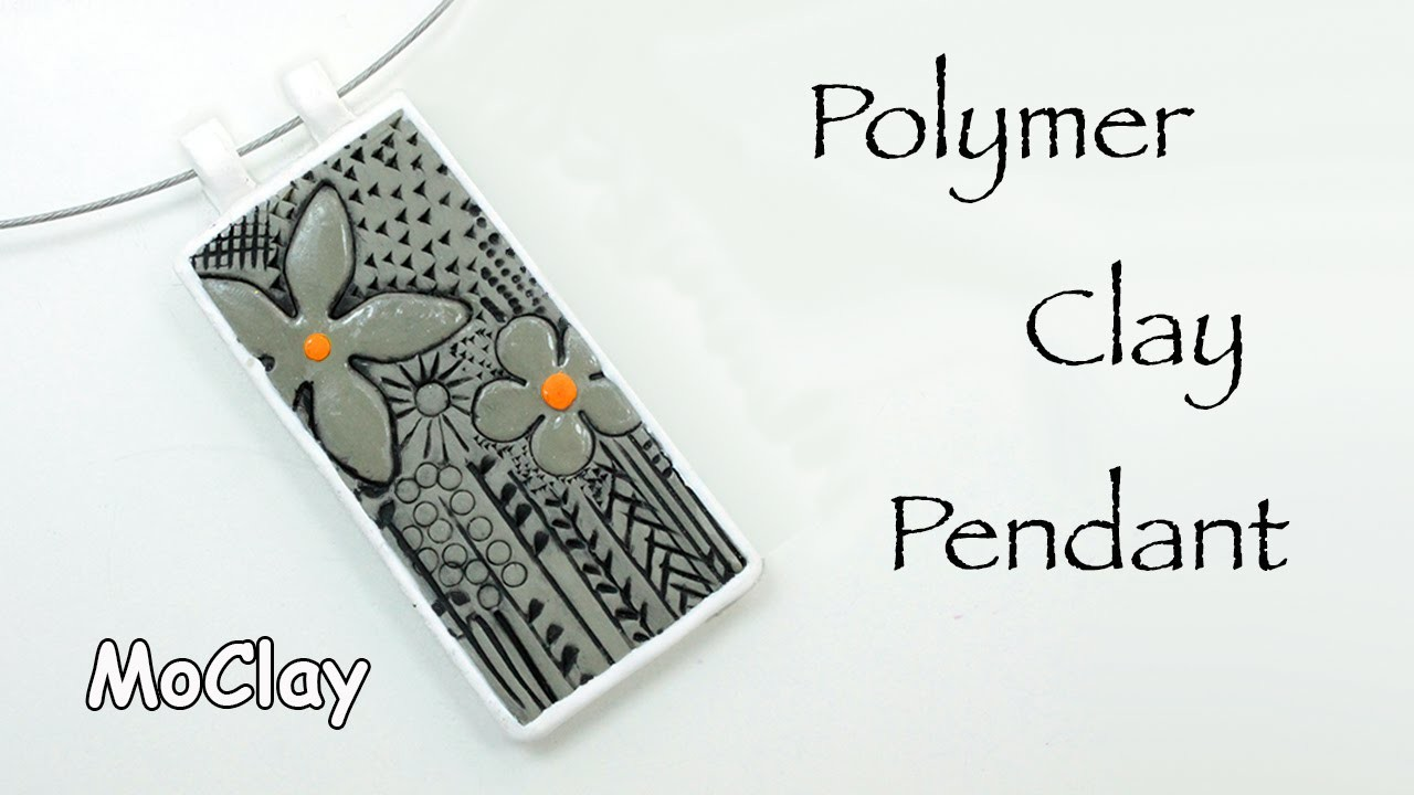 How to make a Polymer clay engraved pendant