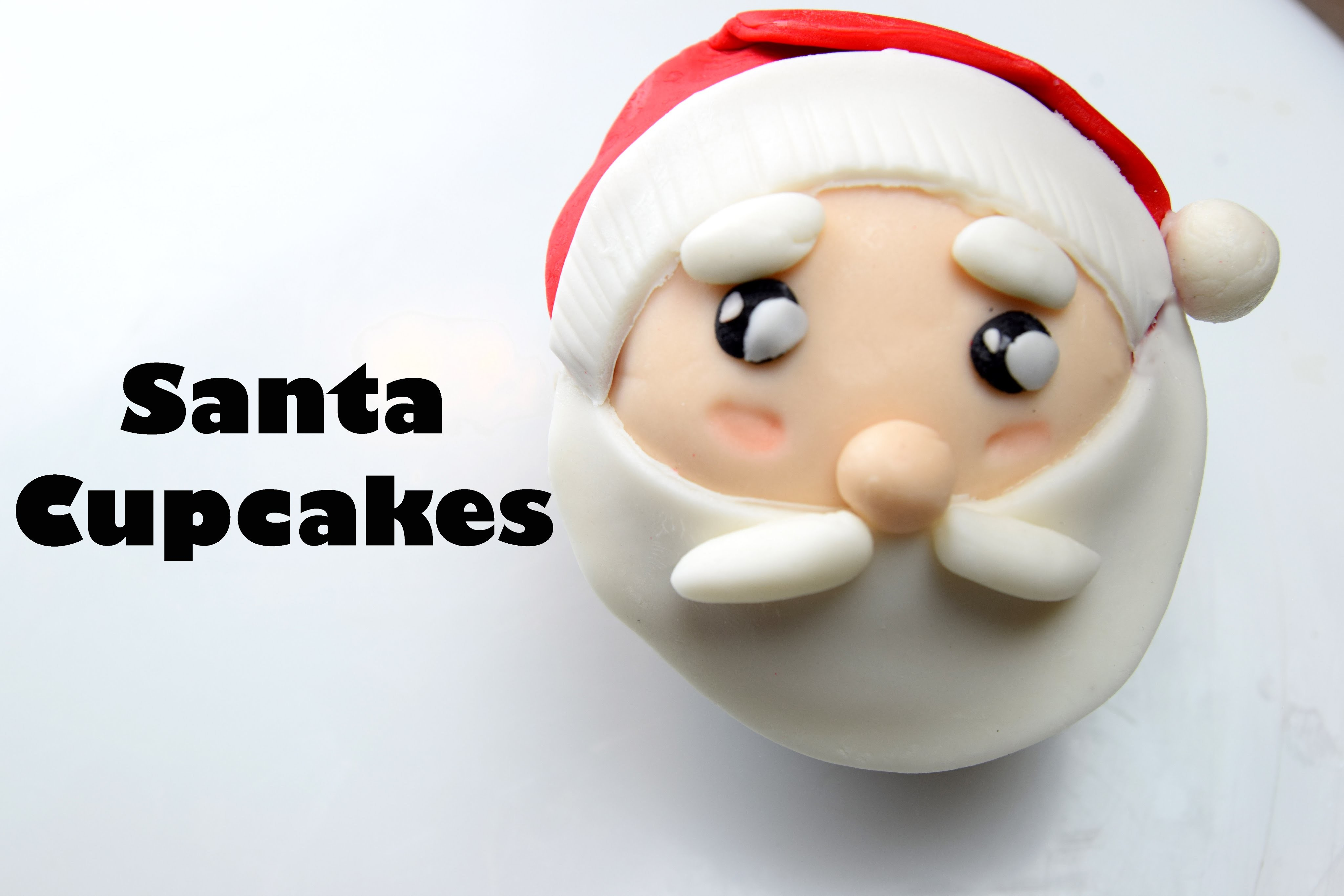 How To Make A Santa Cupcake | Updated Version | Cake Decorating For Beginners
