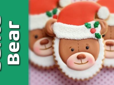 How to make a Santa Teddy Cookie - Cute Christmas cookies