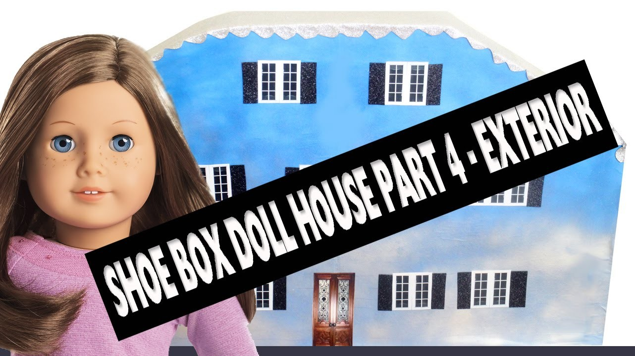 How To Make A Shoe Box Dollhouse - Part 4- Interior- Easy Doll Crafts