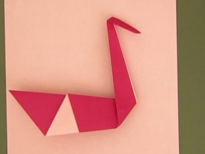 HOW TO MAKE A SIMPLE ORIGAMI SWAN + CUTE IDEA FOR VALENTINE'S DAY