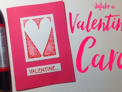 How to make a simple Valentine's Card - Watercolour markers & Posca pens