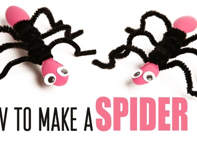 How To Make a Spider | DIY Spider | Arts And Craft | Learn Craft | Incy Wincy Spider