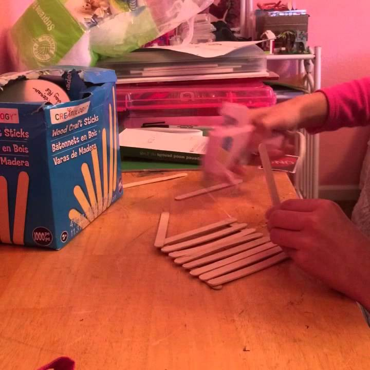 How to make a tripod out of popsicle sticks!