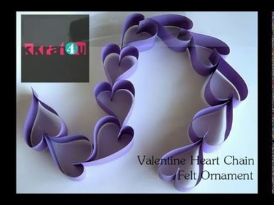 How to Make a Valentine Day Paper Hearts Chain