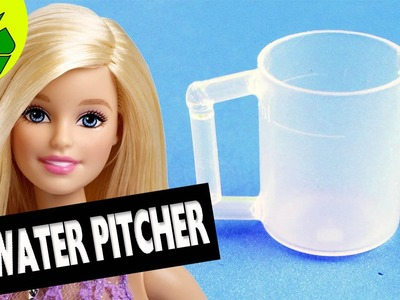 How to make a water pitcher for your doll- Super easy doll crafts