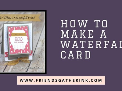How to Make a Waterfall Card