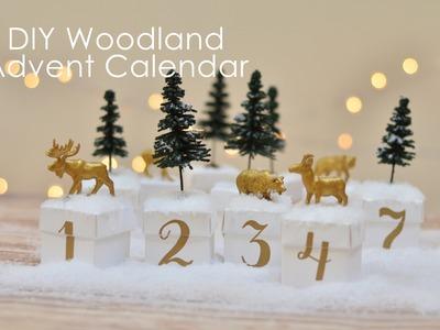 How-to make a woodland advent calendar