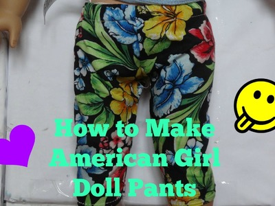 How to Make American Girl Doll Pants *HD*
