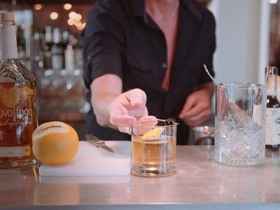 How to Make an Old Fashioned Cocktail with Novo Fogo Barrel-Aged Cachaça