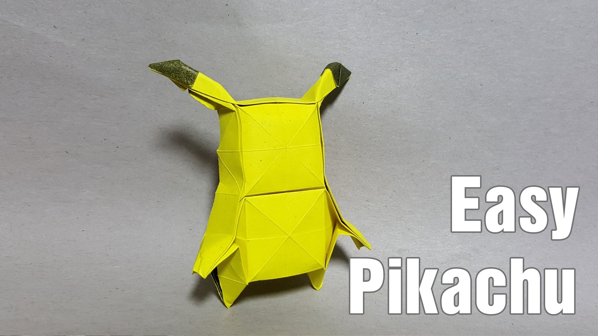 how to make an origami pokemon origami pikachu easy