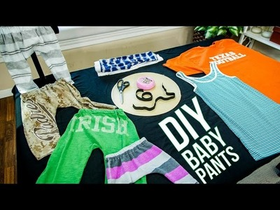 How to make baby pants from old t-shirts!