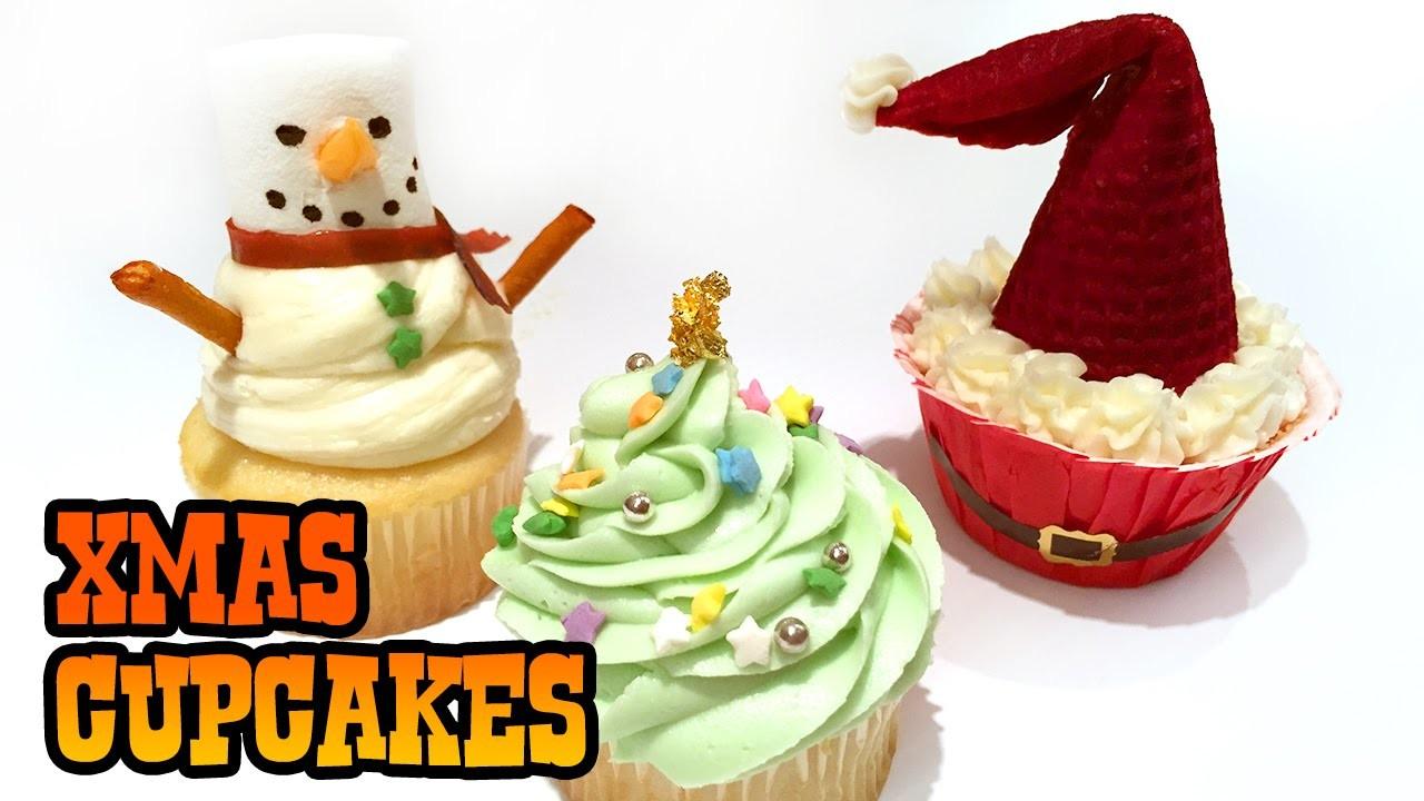 How to Make CHRISTMAS CUPCAKES!!!