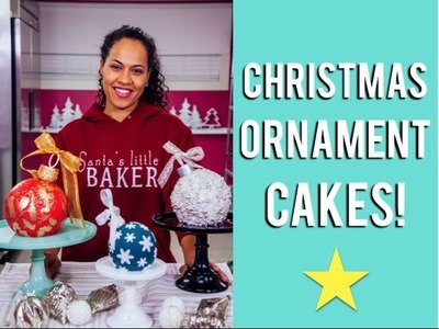 How to make CHRISTMAS ORNAMENT CAKES with Eggnog Buttercream and Candy Cane Chocolate Cake!