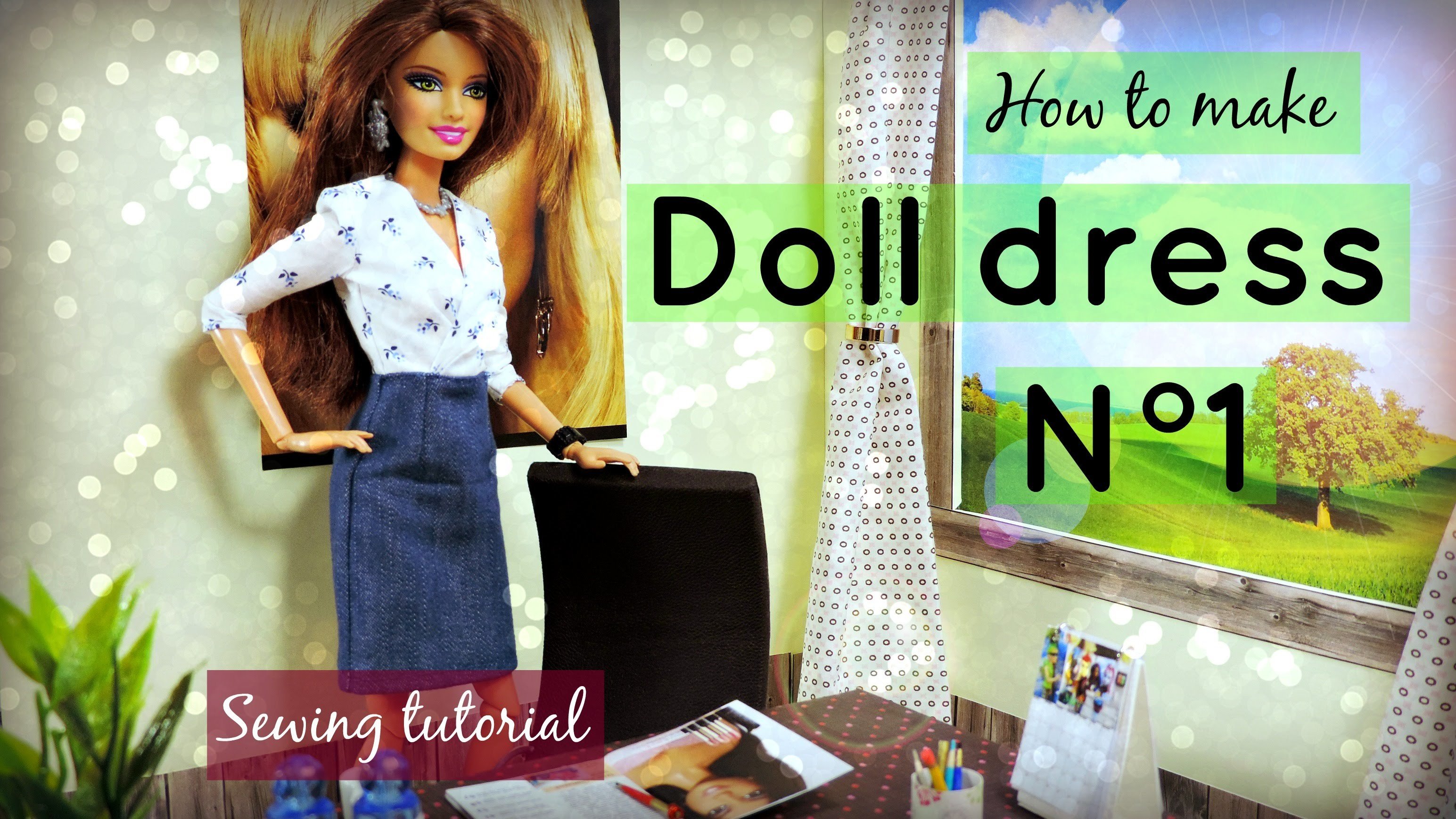 How to make doll dress N°1