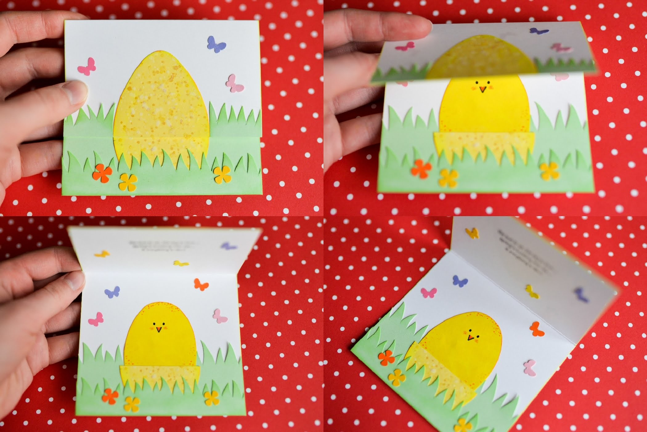 How to Make - Easter Egg Spring Card - Step by Step | Kartka Wielkanocna