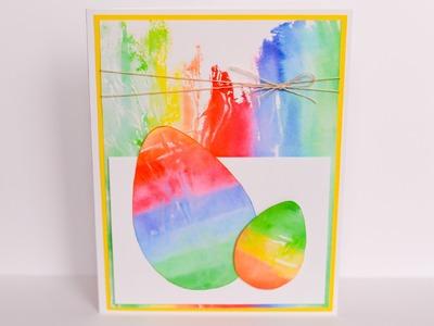 How to Make - Easter Egg Spring Card - Step by Step | Kartka Wielkanocna