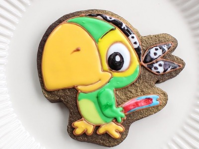 How to make Jake and the Neverland Pirates Cookies - Skully Decorated Cookie
