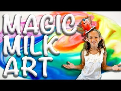 How to make Magic Milk Art. Science using milk, soap and food coloring!
