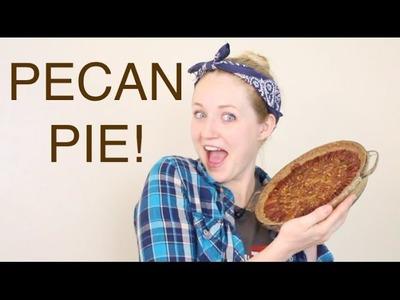 How To Make Pecan Pie! Thanksgiving Treat!