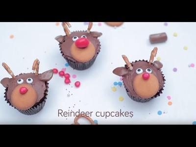 How to make reindeer cupcakes