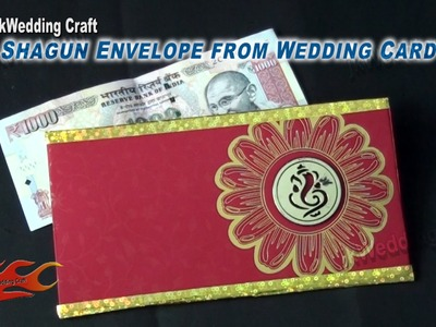 How to make Shagun Envelope from Wedding card | Best Out of waste | JK Wedding Craft 068