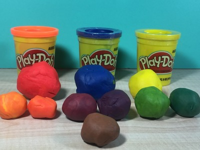 How to make the Color Purple with Play Doh.