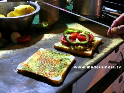 HOW TO MAKE Veg Sandwich | MUMBAI STREET FOOD | 4K VIDEO