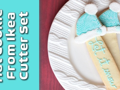 How to marble icing - How to decorate the hat cookie from the Ikea cutter set