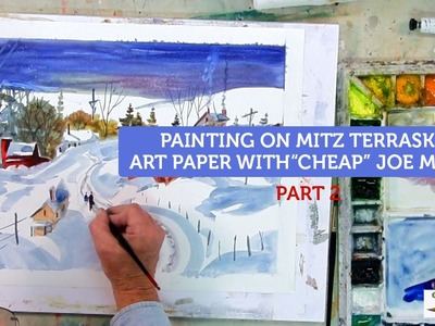 How to Paint Watercolor on Mitz Terraskin Art Paper - Part2