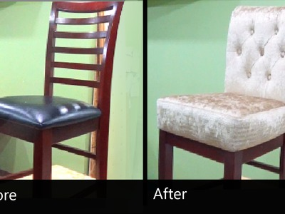 HOW TO REUPHOLSTER A BAR STOOL WITH A REMOVABLE SEAT - ALOWORLD