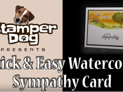 How To Watercolor a Sympathy Card