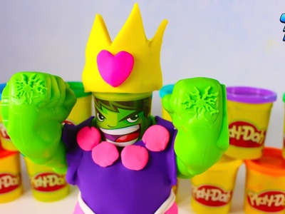 HULK DRESS HOW A PRINCESS | Playing with Play Doh