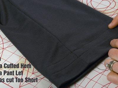 J Stern Desigs l How to Make a Cuffed Hem to Fix a Pant Leg that was Cut Too Short