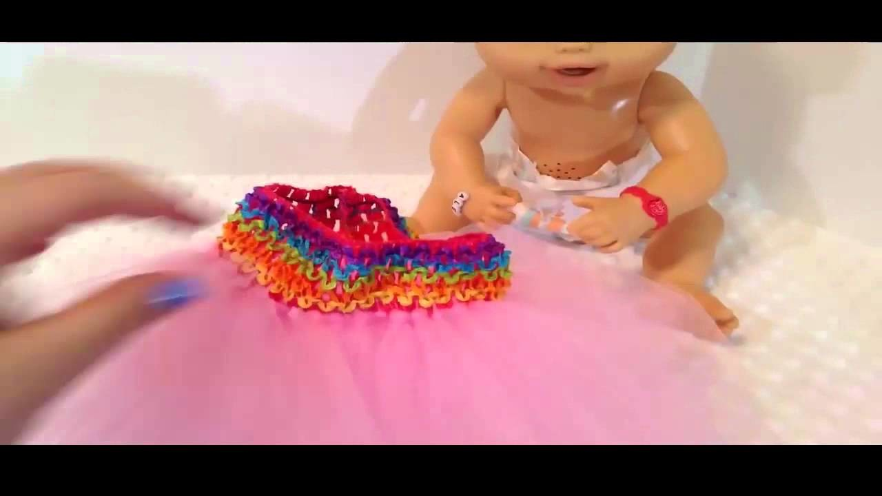 Kids toy - How to make a Tutu for your Baby Alive Doll with Aleasha